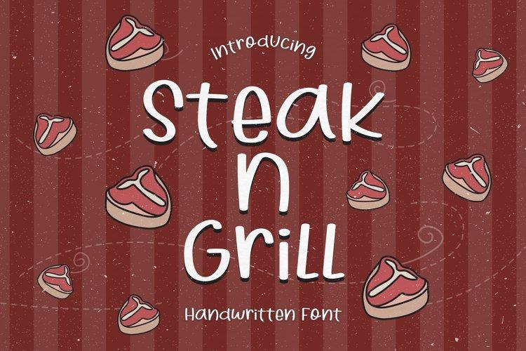 Steak N Grill - A Bouncy Handwritten Font example image 1