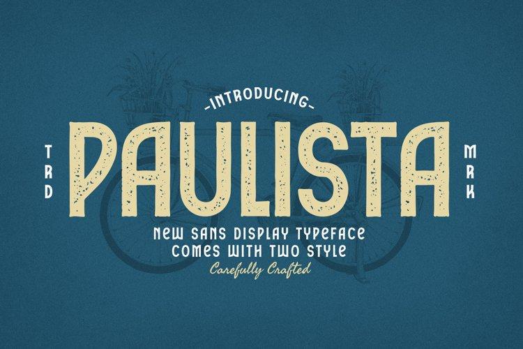 Paulista Sans Display Typeface