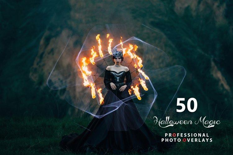 50 Halloween Magic Photo Overlays example image 1