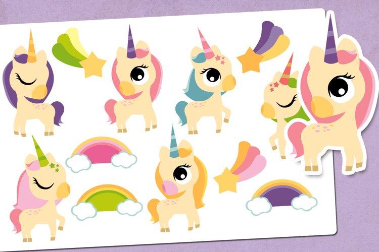 Baby Unicorn and Rainbow Illustrations