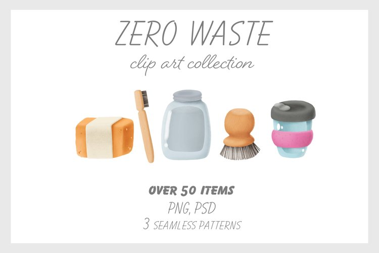 Zero waste clip art collection example image 1