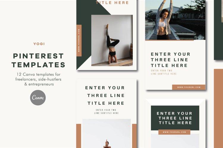 Pinterest Templates | Canva | Yogi example image 1