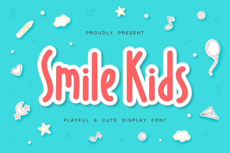 Smile Kids - Playful & Cute Font example image 1