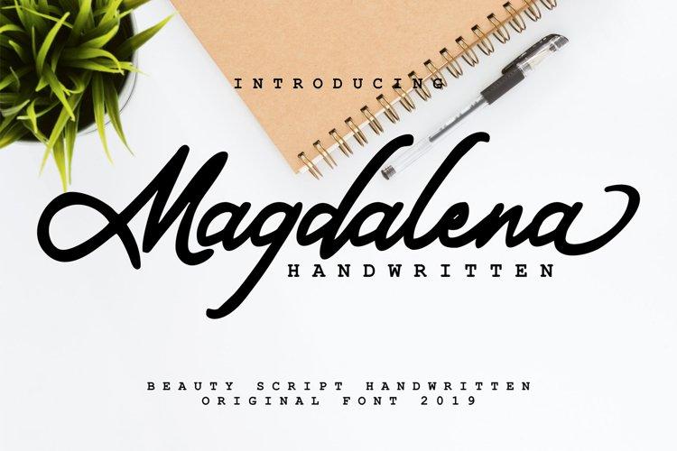 Magdalena | Beauty Script Handwritten example image 1