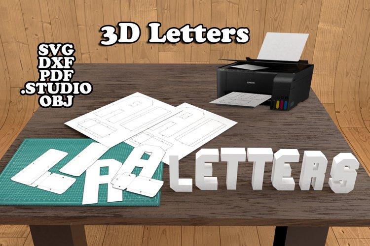 3d Alphabet example image 1
