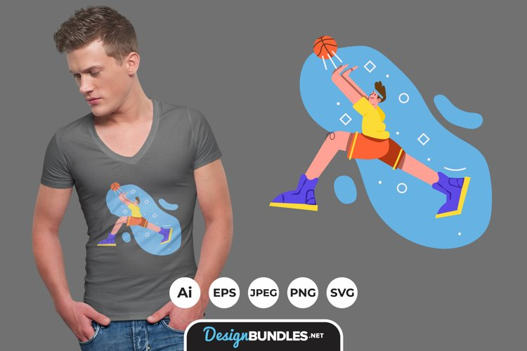Playing Basketball for T-Shirt Design example image 1