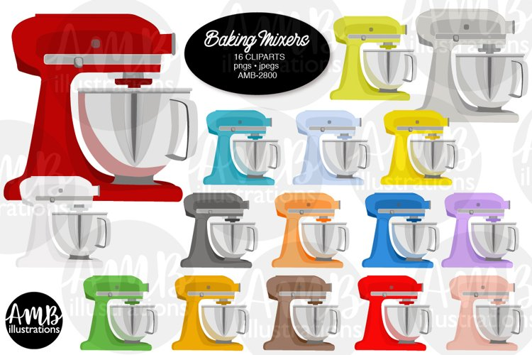 Baking clipart, cooking clipart, Mixers, graphics AMB-2800 example image 1
