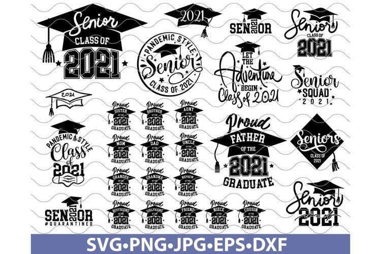 Senior 2021 SVG, Senior SVG Bundle, Class of 2021 SVG, Class example image 1