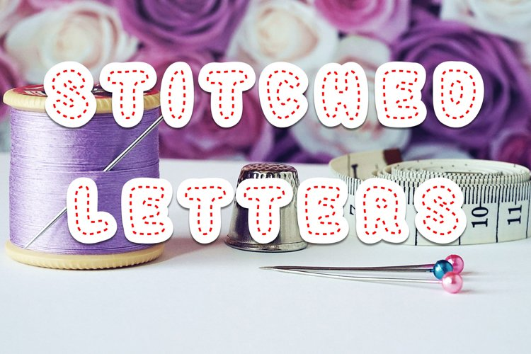 Stitched Letters SVG Font example image 1