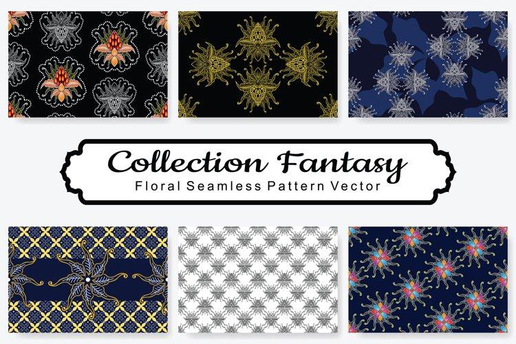 Set Of Fantasy Floral Vector Pattern Vol.8 example image 1