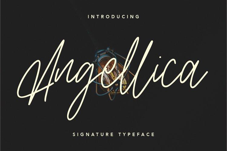 Angellica Signature Script Font example image 1