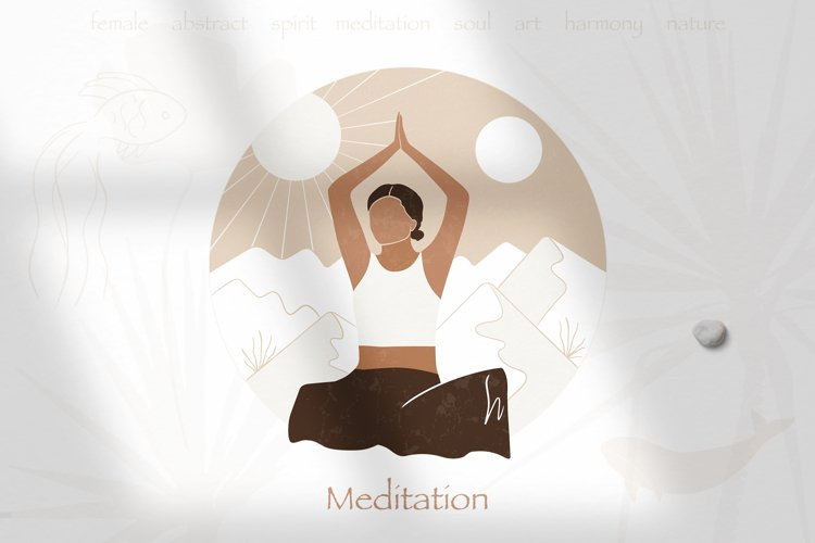 Meditation abstract vector illustrations. AI, EPS, PNG JPG