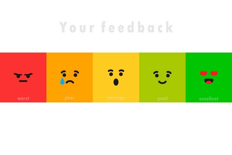 Different face emotion. Feedback scale. Angry, sad, neutral example image 1