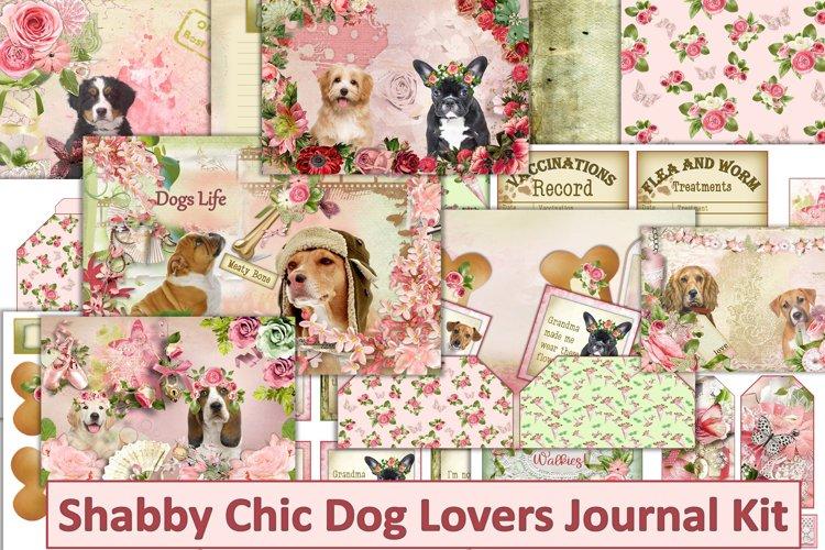 Shabby Chic DogsJournal Kit with Free Ephemera JPEG PDF PNG