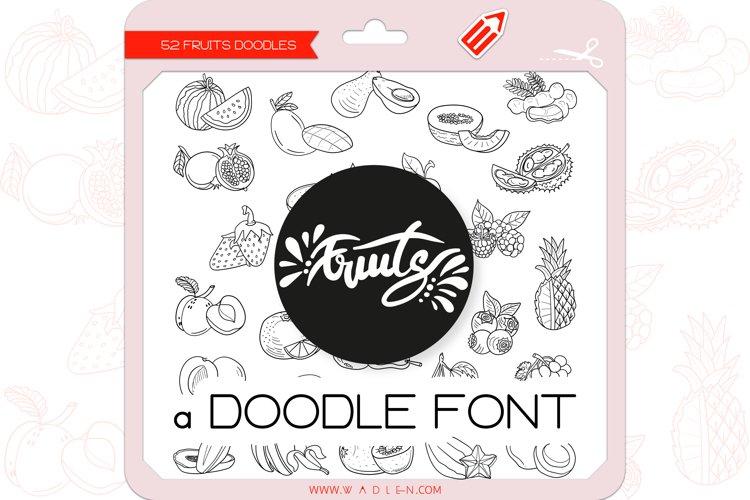 Fruits Doodles - Dingbats Font example image 1