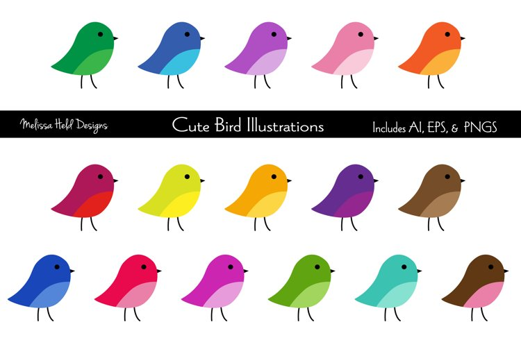 Cute Birds Clipart Graphics example image 1