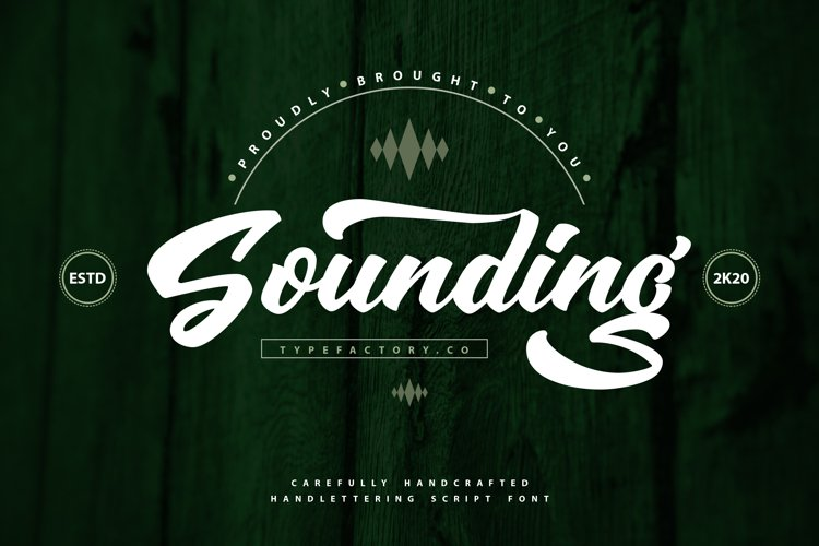 Sounding - Carefully Handcrafted Script example image 1