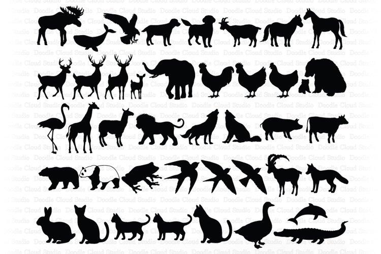 Animal Bundle SVG Cut Files, Animals Clipart, Animal Vector.
