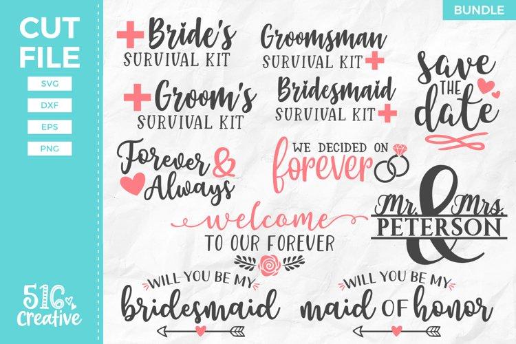 Wedding Bundle 11 Designs SVG DXF EPS PNG