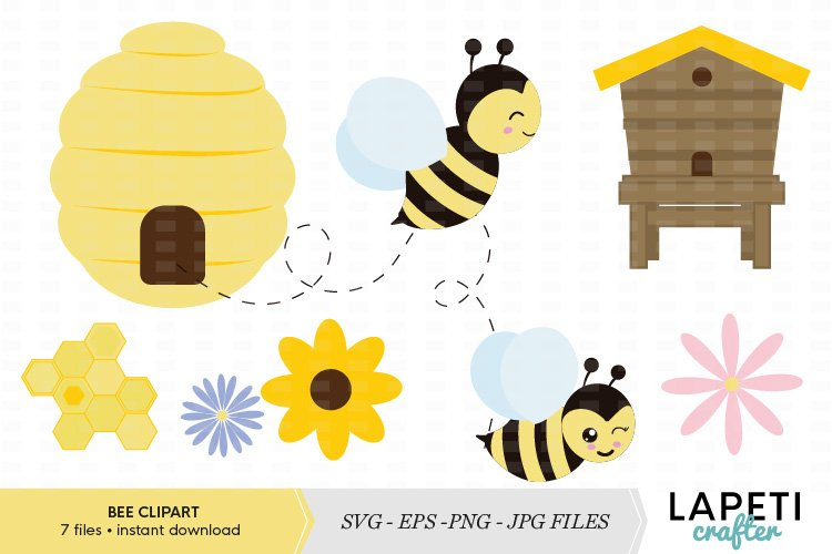 Bumble Bee clipart vector illustration example image 1