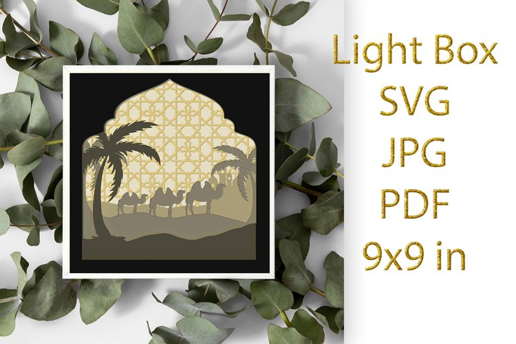 light Box SVG, Shadow Box, Camels