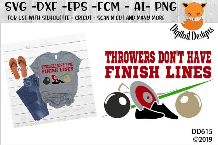Track and Field Throwers Dont have Finish Lines SVG