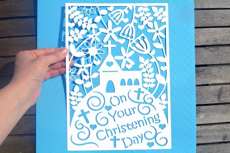 Christening paper cut SVG / DXF / EPS files example image 1