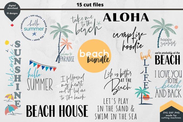 Summer SVG Bundle - Beach Days Cut Files, 15 designs