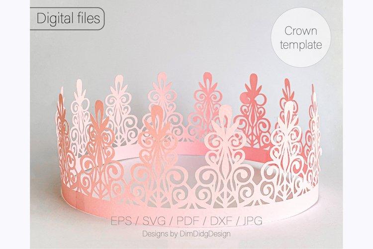 Birthday crown svg cricut Tiara svg Princess crown svg example image 1