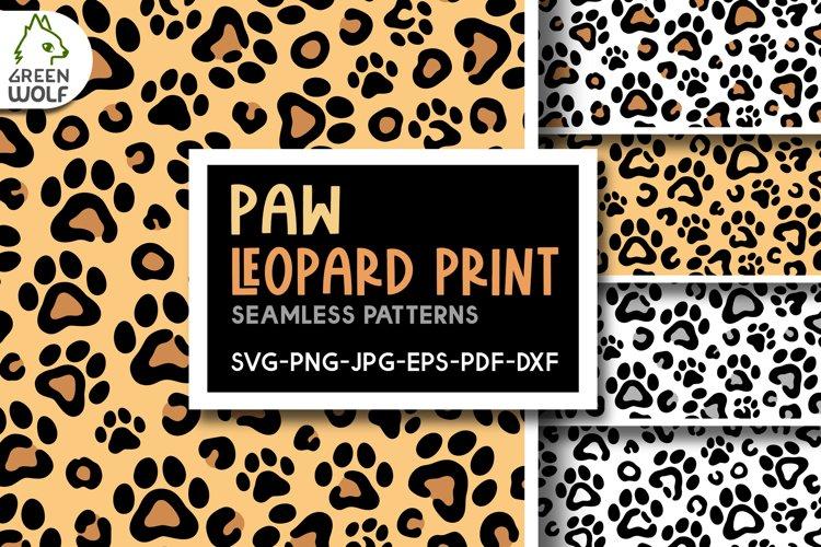 Paw leopard print svg Cat paw pattern svg Leopard pattern