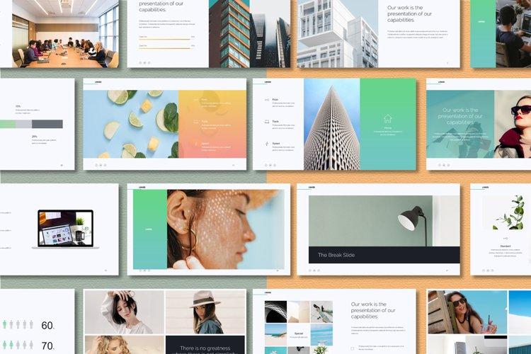 Linked Minimal & Simple Presentation Powerpoint