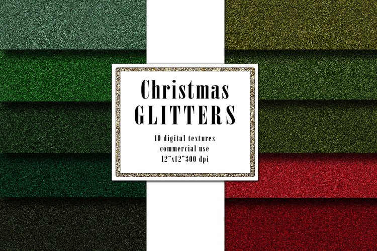 Christmas Glitter Digital Textures, Green Red Surface example image 1