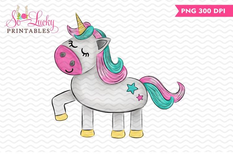 Unicorn printable sublimation design example image 1