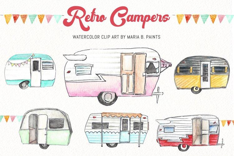 Watercolor Clip Art - Campers