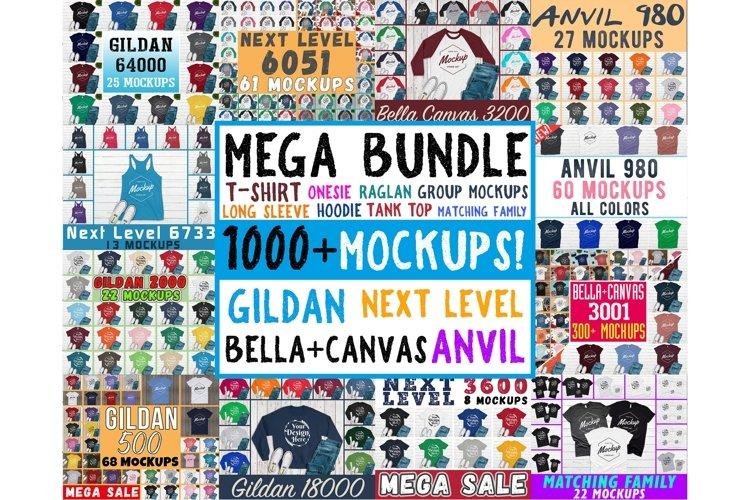 1000 Huge Bundle Shirt Mockup, Bella Canvas, Gildan Mockups example image 1