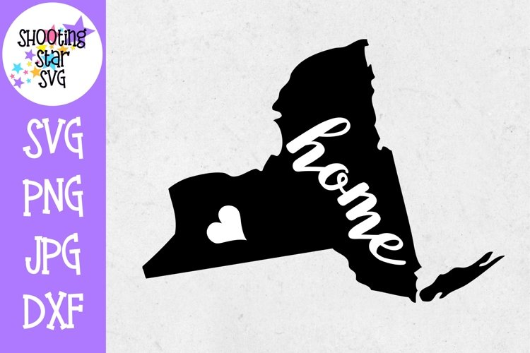 Download New York Home State With Heart 50 States Svg 261513 Cut Files Design Bundles