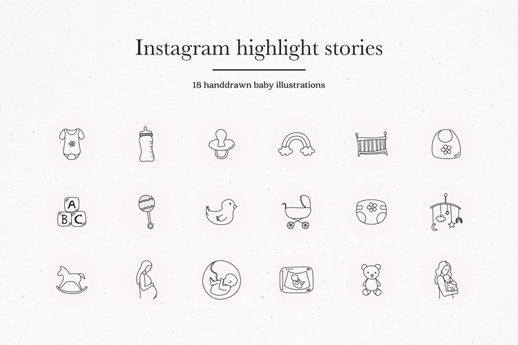 Instagram Baby Highlights Icons | Instagram Story Covers example image 1
