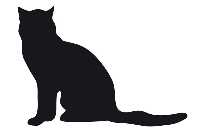 Black silhouette of cat. example image 1