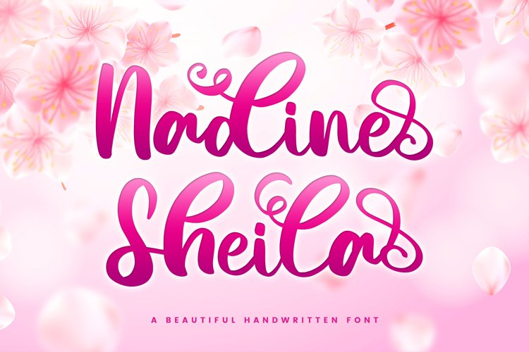 Beautiful Script Font - Nadine Sheila example image 1