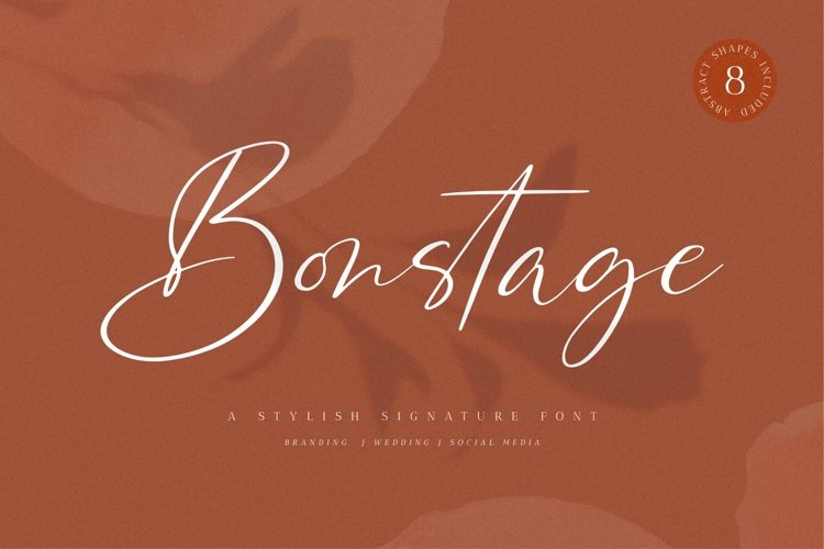 Bonstage Font Abstract Shapes example image 1