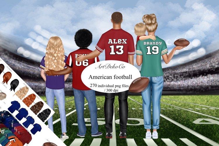 Football Family Clip Art, American Football Clipart.