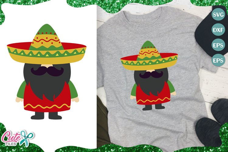 Mexican gnome, 5th of may SVG for crafter