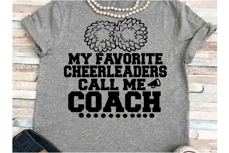 Cheerleader SVG DXF JPEG Silhouette Cameo Cricut call coach example image 1