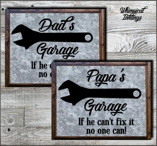 Dads (and Papa) Garage SVG Cutter File example image 1
