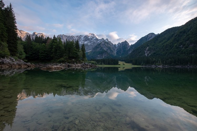 Before sunset at Fusine lake example image 1