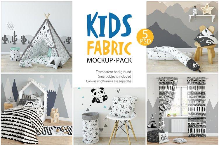 KIDS Fabric Mockup Pack - 1 example image 1
