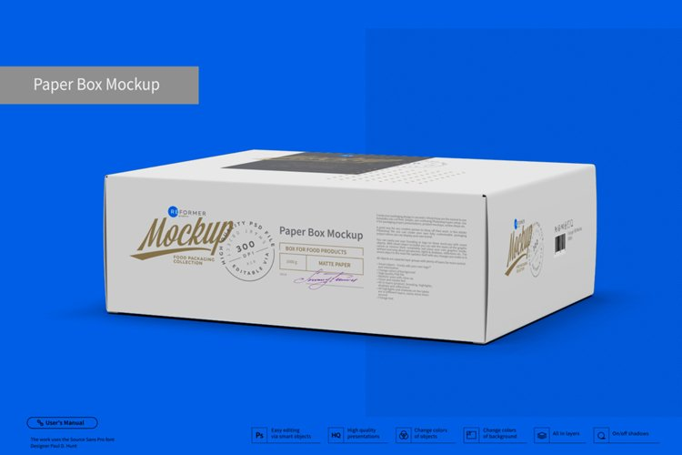 Paper Box Mockup Half Side View example image 1