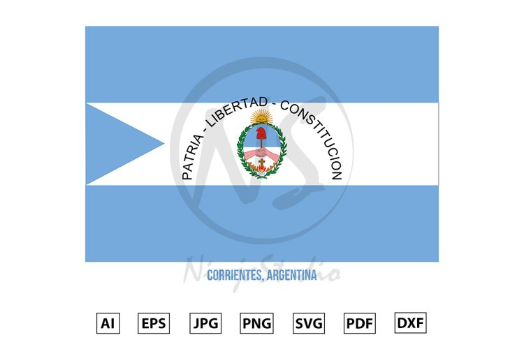 Corrientes Flag Vector. Flag of Argentina Provinces example image 1