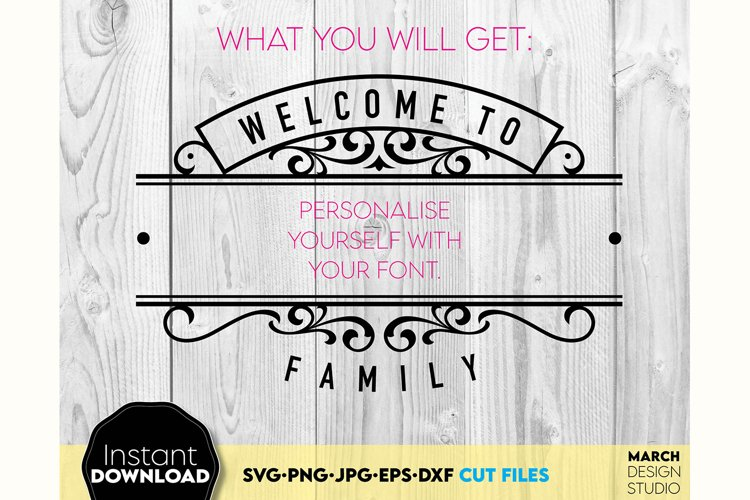 Welcome sign SVG Family sign SVG Family SVG surname svg example 1