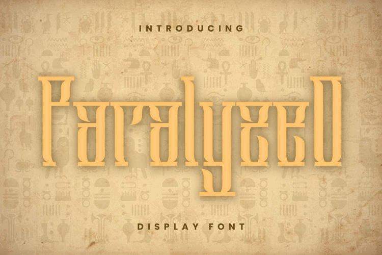 Web Font Paralyzed Font example image 1